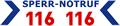 Sperr Notruf 116 116